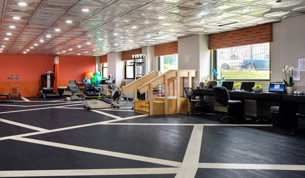 Gym at the facility in queens