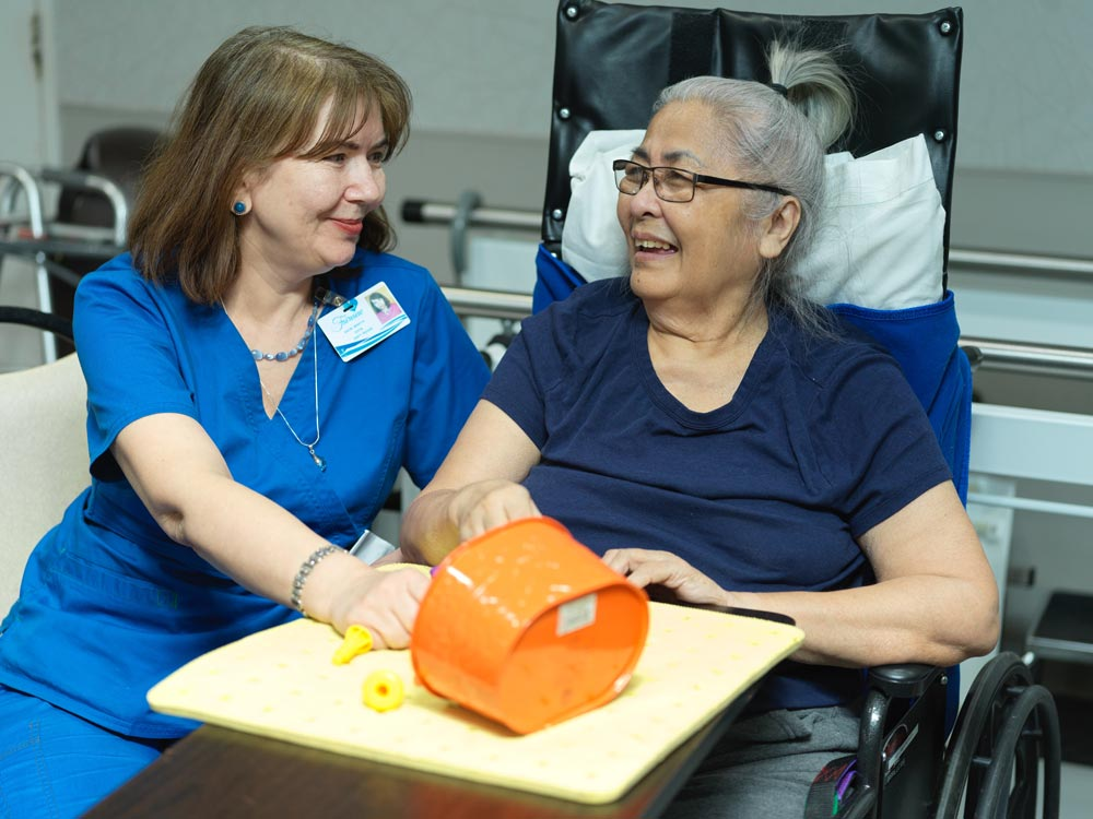 Emotional support provided to patients at Fairview Rehab & Nursing Home in Queens, NY