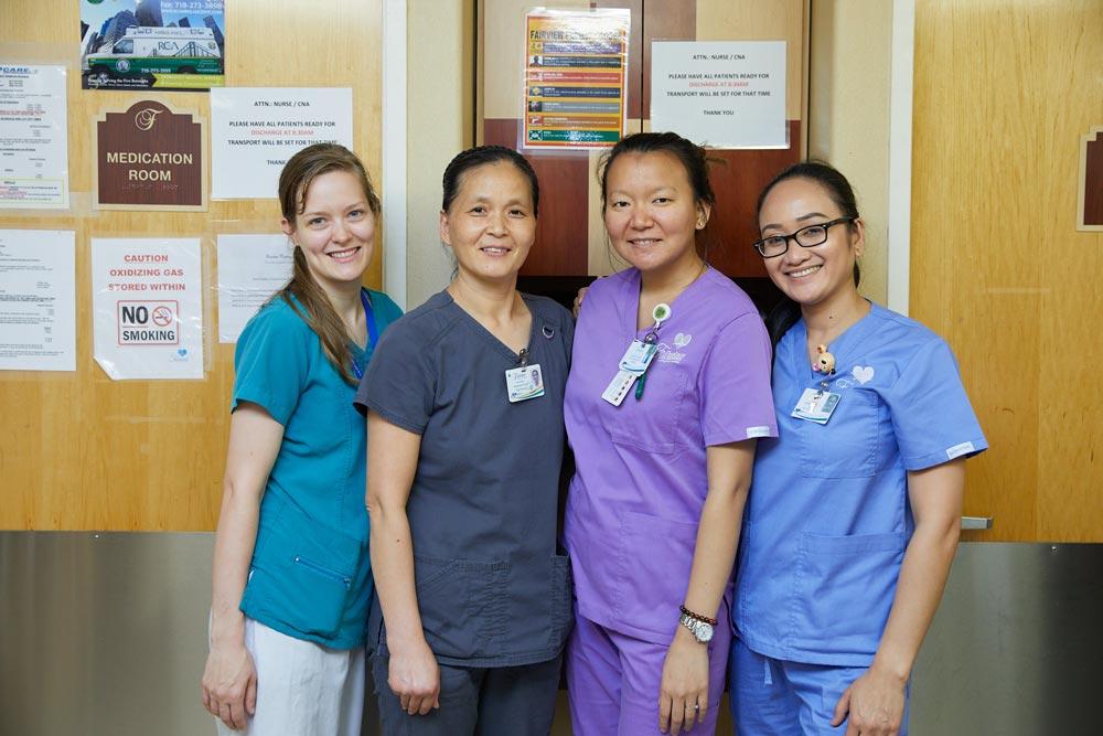 Fairview rehab nursing staff for Alzheimer disease care