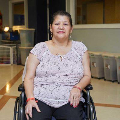 Rosario Huertas, Fairview patient