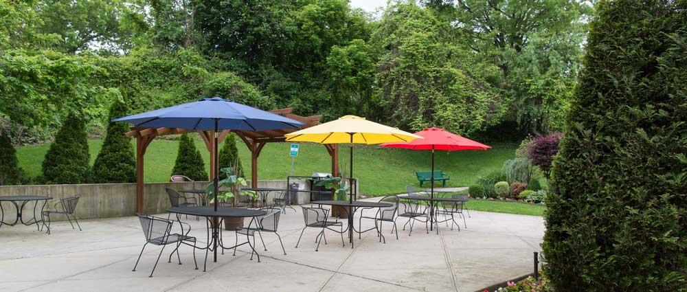 Fairview rehab garden for residents to enjoy sun exposure